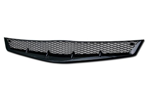 BLACK R-SPORT MESH TYPE FRONT HOOD BUMPER GRILL GRILLE 06-08 HONDA CIVIC 2D (Front Hood Grill Type)