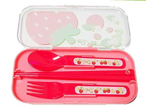 Spoon Chopstick Utensil Bento strawberry product image