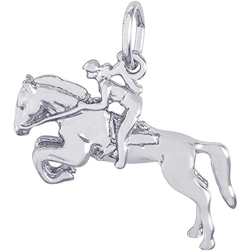 Rembrandt Charms Horse & Rider Charm, Sterling Silver (Horse Charm Silver)
