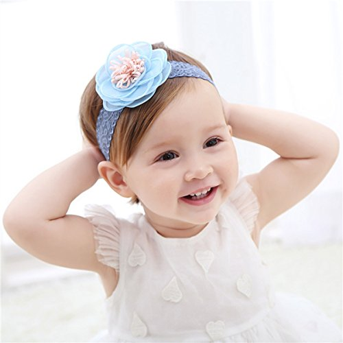 Cute Headband Accessories, 5Pcs Lovely Baby Girls Flower Headbands Photography Props by Wemi (Image #2)
