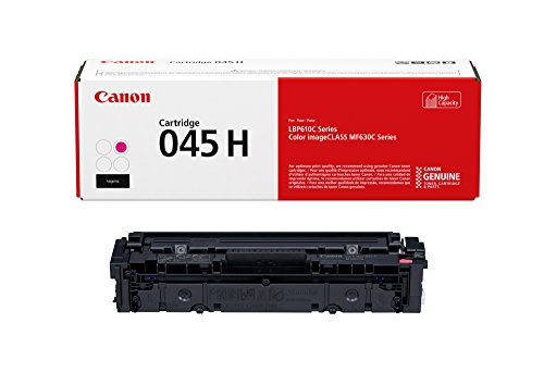 Canon 1244C001 Genuine Toner Cartridge 045 High Capacity 1-Pack, Magenta, Works with Color Image Class MF632Cdw, MF634Cdw, LBP612Cdw, High Yield Magenta