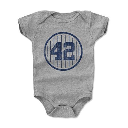 500 LEVEL Mariano Rivera New York Yankees Baby Clothes, Onesie, Creeper, Bodysuit (6-12 Months, Heather Gray) - Mariano Rivera 42 B