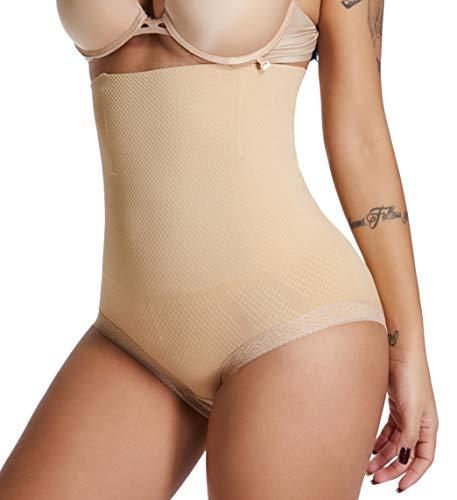 SURE YOU LIKE Women Butt Lifter Shapewear Hi-Waist Tummy Control Panties Slimmer Waist Body Shaper Beige (Waist Briefs Hi Smooth)