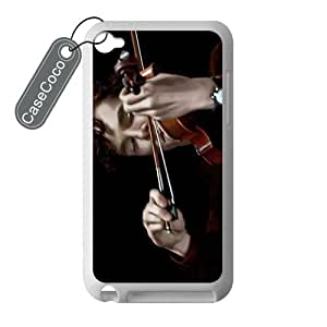 CASECOCO(TM) Favorite TV Series Sherlock iPod Touch 4 Case - 100% Protective Soft Rubber White Case for iPod Touch 4