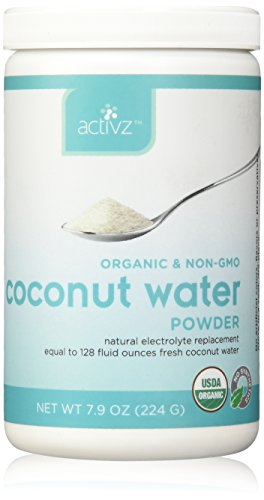 Activz Organic and Non-GMO Coconut Water Whole Food Powder (32 servings), Single