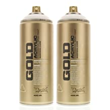 Montana GOLD Acrylic Spray Paint SHOCK WHITE Cans by Montana