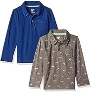 Amazon Brand - Spotted Zebra Boys Long-Sleeve Polo Shirts