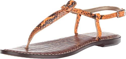(Sam Edelman Women's Gigi Flat Sandals, Hot Orange, 8.5 M US)