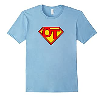 Mens Super OT - Occupational Therapy T-shirt 3XL Baby Blue
