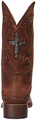Out Crossed Brown Western Boot Roper Women's pAqYxwv