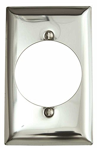 Hubbell SCH723 Wallplate Midi 1 Gang Receptacle Chrome