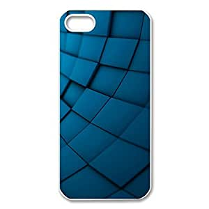 Custom Abstract Blue Texture Printed Hard Case Protector Snap On Cover For Iphone 5 /5s (White 102147) by ruishername