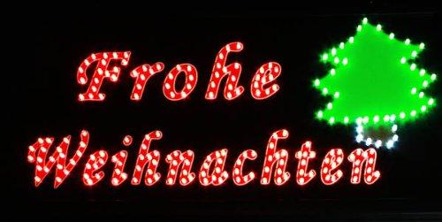 Led Frohe Weihnachten.Haac Led Schild Frohe Weihnachten Werbeschild Reklameschild Mit