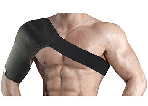 JBM Elastic Kompression Schulterbandage Schulterschutz , Neopren Verstellbare Schulter Brace Schulter Verpackungs-Gurt-Band Passend für linke oder rechte Schulter
