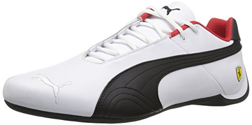 PUMA Men's Ferrari Future Cat OG Sneaker, White Black-Rosso Corsa,7 M US