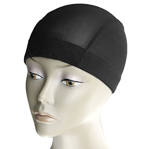 MsFenda 3pcs/lot with 2 Wig Combs Sew-in Black Color Lace Wig Making Cap, Dome Weaving Net Cap(3pcs/lot)