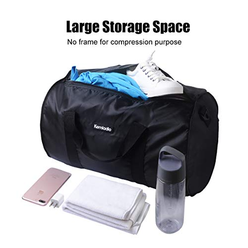 Foldable Lightweight Travel Duffle Bag, Kemladio Water Rresistant Packable Bag Luggage by Kemladio (Image #1)