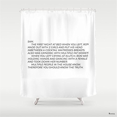 Weeya Jersey Shore Letter to Sammi Shower Curtain 60 x 72 inch
