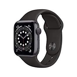New AppleWatch Series 6 (GPS, 40mm) – Space Gray Aluminum Case with Black Sport Band