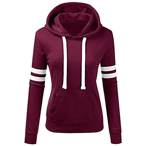 Sweatshirt Greatest (SMALLE ◕‿◕ Women's Solid Hooded Sweatshirt Casual School Long Sleeve Drawstring Pullover Tops Blouse)