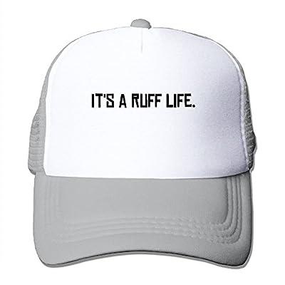 Ruff Life Adjustable Snapback Baseball Cap Custom Mesh Trucker Hat from Huishe1