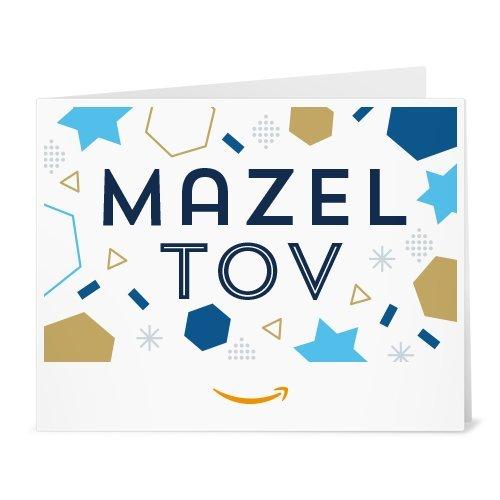 Amazon eGift Card - Print - Mazel Tov - Gift Blick Card