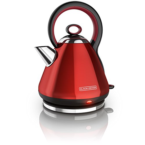 - BLACK+DECKER 1.7L Stainless Steel Electric Cordless Kettle, Red, KE2900R