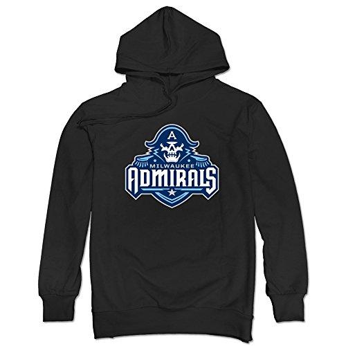 JUST Men's Hockey Logo Milwaukee Admirals Hoodie Black