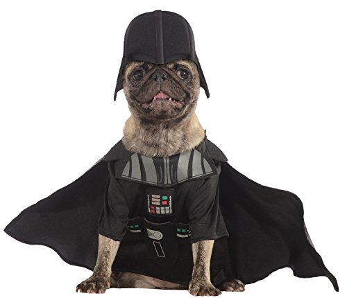 Rubies Costume Star Wars Collection Pet Costume, Medium, Darth (Halloween Costume All Black Clothes)