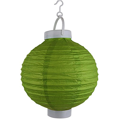 Just-Artifacts-8-Round-Battery-Powered-LED-ChineseJapanese-Decorative-Paper-Lantern-Color-Green