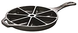 Lodge L8CB3 Cast Iron Cornbread Wedge Pan, Pre-Seasoned