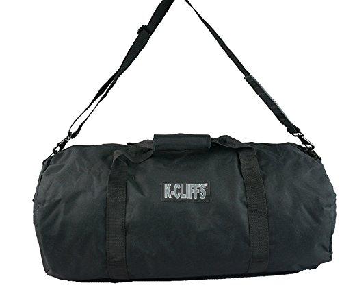 Round Heavy Duty Cargo Duffel Sport Gear Equipment Travel Gym Bag 24x12.5