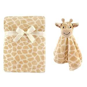 Amazon Com Hudson Baby Unisex Baby Plush Blanket With Security Blanket Giraffe One Size Baby