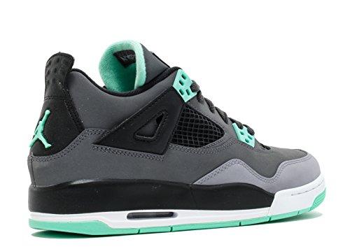 Nike Air Jordan 4 Retro BG Zapatillas de deporte, Niños drk grey, grn glw-cmnt gry-blck