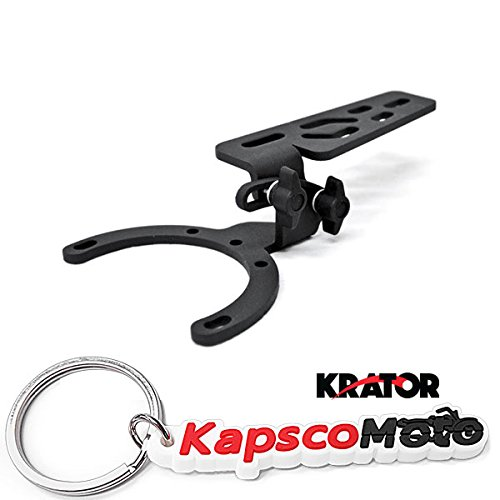 Krator Adjustable Tank Mount for Motorcycles Camera, GPS, Phone, MP3 Player Fits All - Honda and BMW + KapscoMoto Keychain