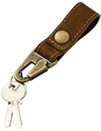 Leather Key Ring Holder Handmade by Hide & Drink :: Swayze Suede