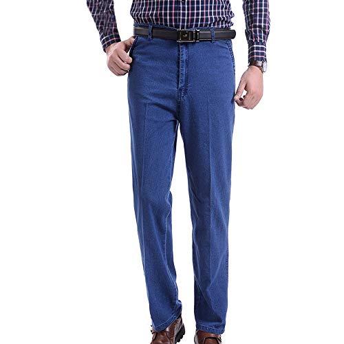 YIHIGH Jeans Hombre - Primavera y Verano Pantalones Sueltos de Cintura Alta Cómodos Jeans para Hombres Azul Claro