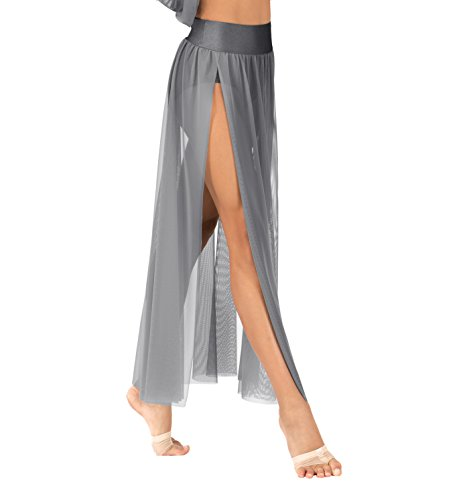 Artistic Costumes & Dance Supply (Child Emballe Mesh Skirt with Attached Briefs,N7240CBLKM,Black,Medium)