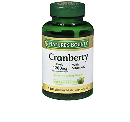 Nature's Bounty Cranberry Fruit 4200mg/ Plus Vitamin C, 500 Softgels Bounty-liky