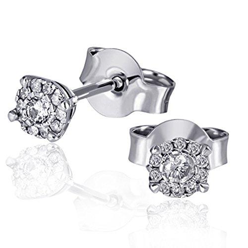 Goldmaid - Pa O6810WG - Boucles d'Oreille Femme - Or Blanc 9 Cts 375/1000 0.9 Gr - Diamant