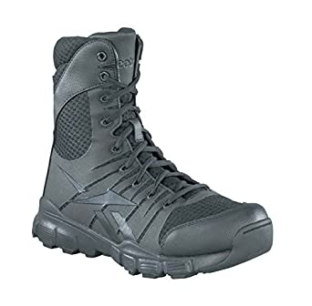 34c67417b54b57 Reebok Mens Black Micro Mesh 8in Tactical Boots Dauntless Soft Toe 6 M