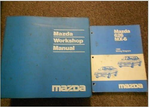 1992 mazda 626 mx-6 mx6 service repair shop manual set factory oem book 92  mazda (1992 mazda 626 mx-6 service manual 1992 626 mx-6 wiring diagram  manual)