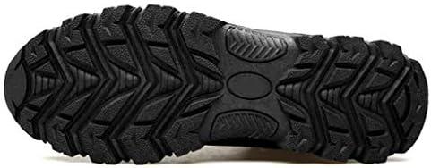 バックパッキングキャンプトレッキングバイク旅行オールシーズンウォーキングのためのトレッキングブーツ男性防水ハイキングブーツメンズハイキングブーツノンスリップレースアップアウトドアシューズを (Color : Black, Size : 6.0UK)
