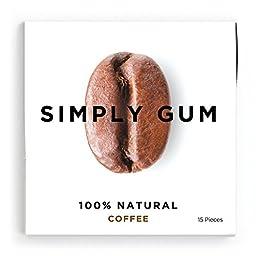 Simply Gum Coffee Natural Chewing Gum, Non GMO, Vegan