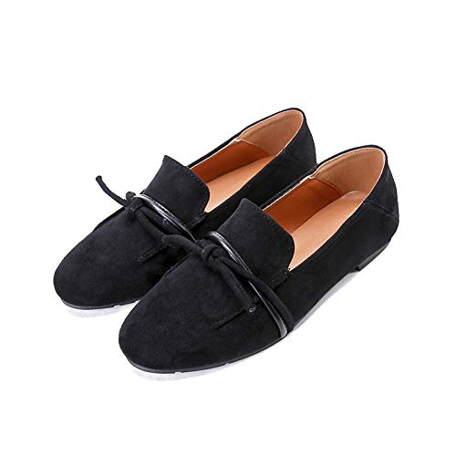 Casual shoes women work leather slip pregnant FLYRCX ladies fashion shoes shoes flat Black comfortable shoes SdAwx8qZ