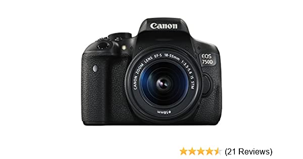 bd83bf2ebc6186 Amazon.com   Canon EOS 750D Digital SLR Camera with 18-55mm IS STM -  International Version (No Warranty)   Camera   Photo