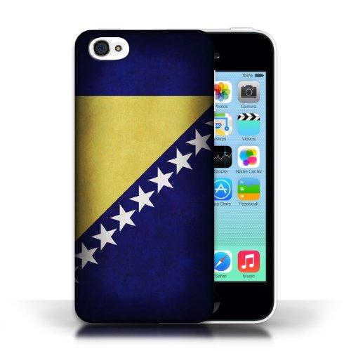 iCHOOSE Print Motif Coque de protection Case / Plastique manchon de telephone Coque pour Apple iPhone 5C / Collection Drapeau / Bosnie-Herzégovine