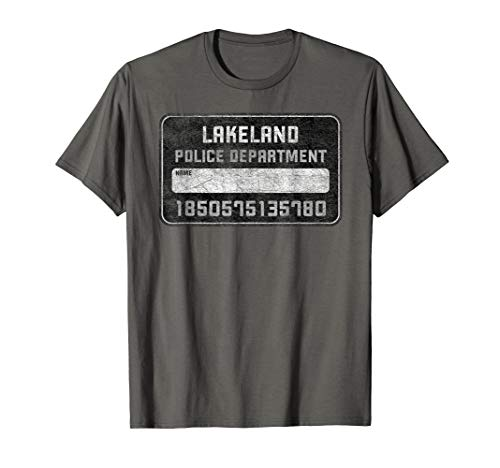 Mug Shot Board Lakeland Police Fun Selfie Shirt ()
