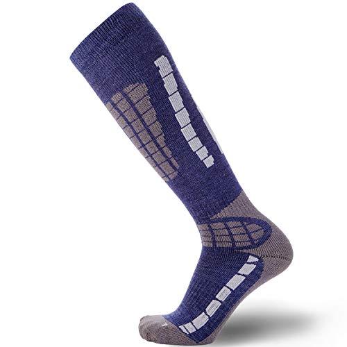 Ski Socks Women Wool Warmest - Best Lightweight Men Skiing Sock, Snowboard from Pure Athlete
