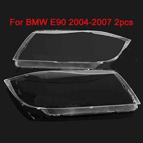 SP-Auto Headlight Lens Plastic Shell Cover (PAIR) For BMW E90/E91 2004-2007